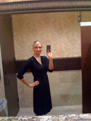 black wrap dress @ Brittany's Cleverly Titled Blog