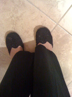sparkly mules @ Brittany's Cleverly Titled Blog