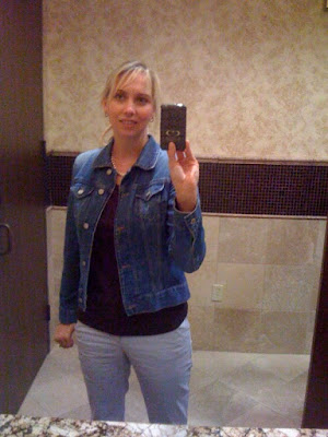 Denim jacket @ Brittany's Cleverly Titled Blog