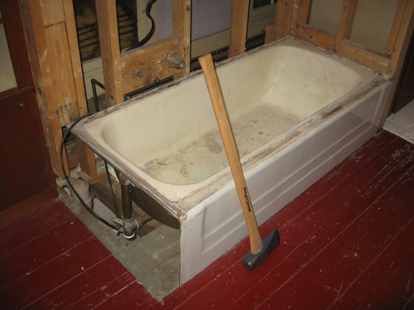how to remove a 248 pound cast iron tub from the second floor with ease