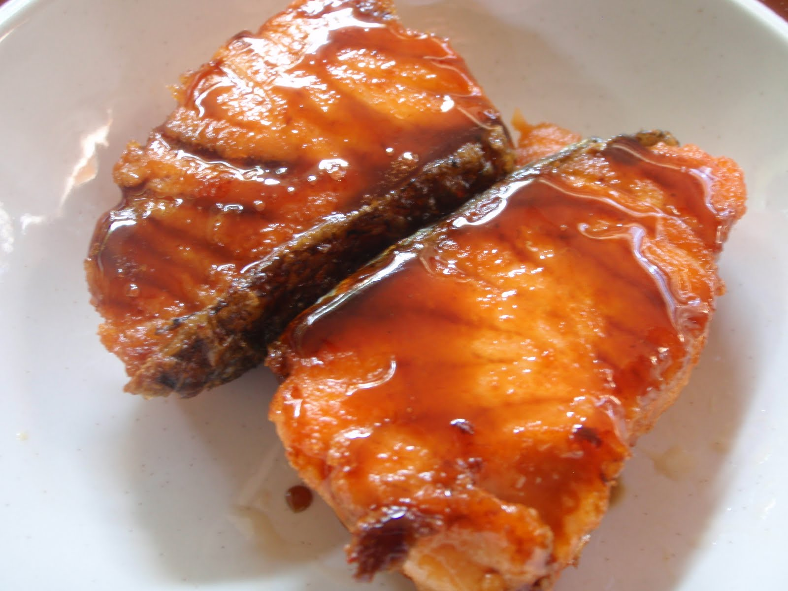 salmon teriyaki 300gm salmon block slice cut into slabs pat dry and ...