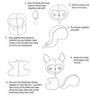 pattern squirrel instructions 727063 Canguru, dinossauro, esquilo, formiga, jacaré, rena, alce, tudo em feltro para crianças