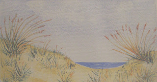 sand dune watercolor