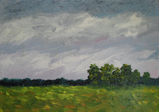 rural landscape original painting by atul pande
