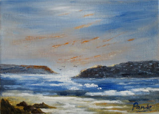 contemporary American seascape acrylic painting by atul pande