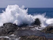 ondas. Com sua força