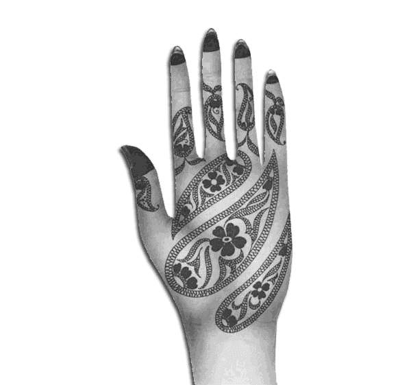 It is a new Arabic mehndi designs elegant style with flowers and leaves is