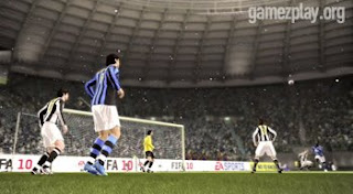 FIFA 10 high definition in-game video game footage