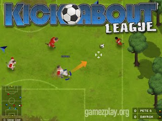 Kickabout League free-to-play browser multiplayer 5 a side football game
