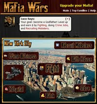 mafia wars facebook screen