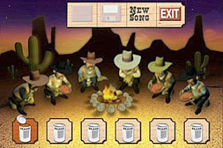 farting cowboys with baked bean cans sitting round fire