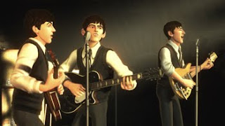 beatles playing at caven in rock band video game