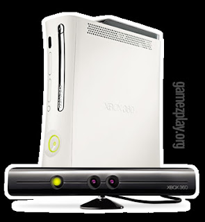 image of xbox with project natal receiver in foreground
