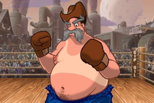 Fat Westerner ready to fight!