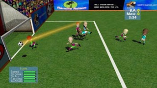 SFG soccer video game cartoon men on pitch