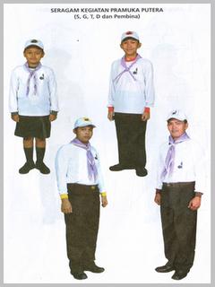 penyelenggaraan seragam anggota gerakan pramuka berikut model seragam