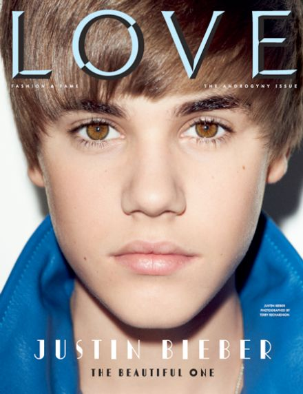 justin bieber love magazine. Justin Bieber on the cover of