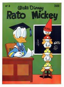 Capa da revista portuguesa Rato Mickey, nº 3, de 1955