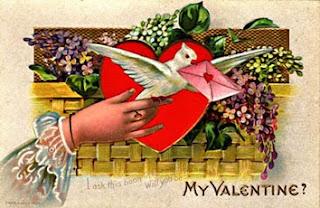 Um Valentine's card do século XIX.