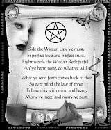 Wicca   (nome alternativo para a arte da feitiçaria moderna)