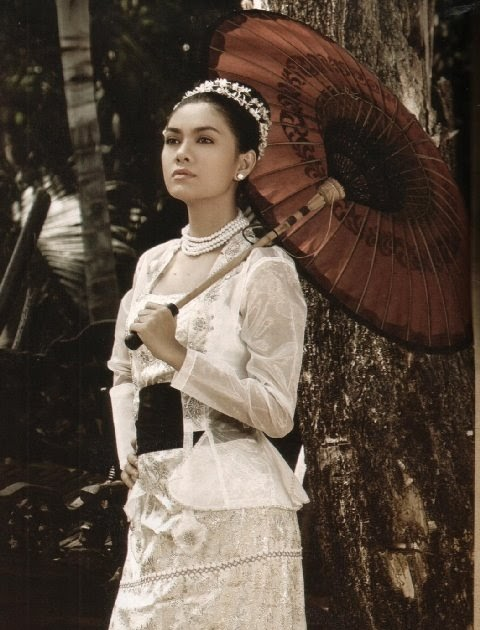 fashion: Myanmar Girl's Fashion from Colonial Era photo album.