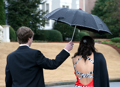 Raining on prom night