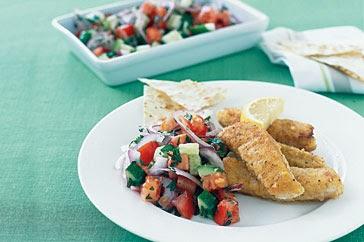 Moroccan fish with salad recipe for Moroccan fish recipe