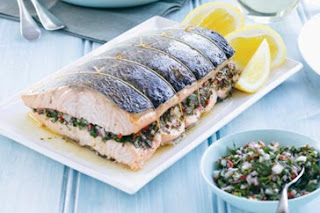 Baked salmon with salsa verde Baked+salmon+with+salsa+verde+recipe