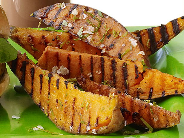 Grilled Sweet Potatoes with Lime and Cilantro Recipe
