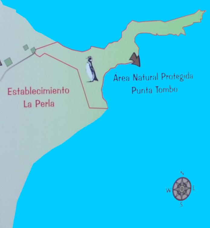 mapa de Punta Tombo