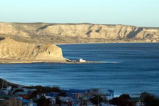 Summer Beach,  Puerto Piramides Valdes Peninsula in Patagonia Argentina