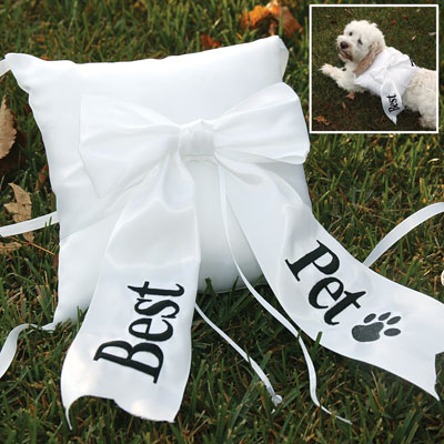 A country nest wedding wednesday39s for Dog wedding ring bearer pillow