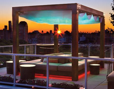 Uma suite para apreciar o pôr-do-sol