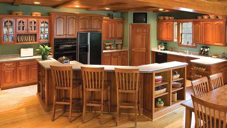 A Cozinha com tecto forrado.