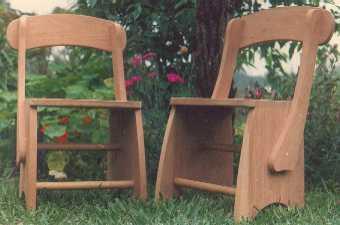 Cadeiras para o exterior que podem combinar com os armários na Cozinha