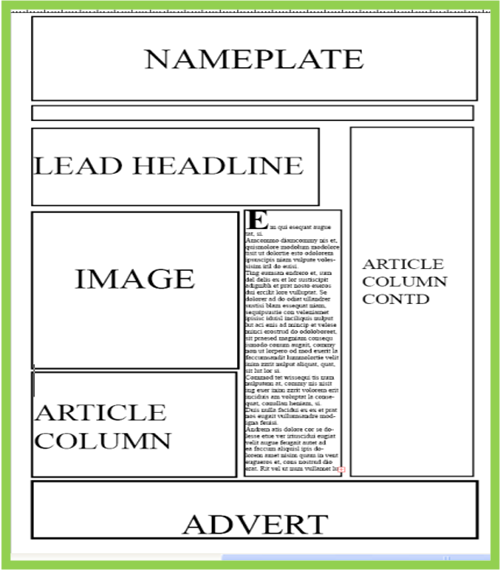 A2 Media Local Newspaper Newspaper Layout Ideas Final Version Of
