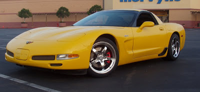 Chevrolet Corvette Coupe Yellow