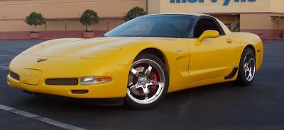 Chevrolet Corvette Coupe Yellow