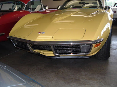 1970 Yellow Chevy Corvette Convertible