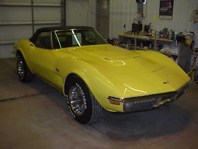 1970 Yellow Chevrolet Corvette Convertible