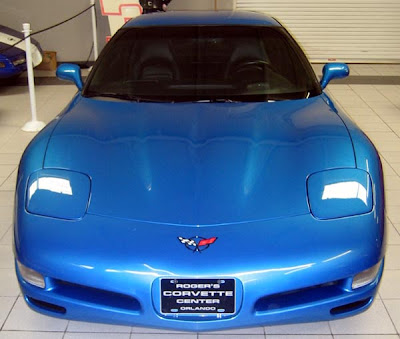 2000 Nassau Blue Corvette Coupe Front Photograph