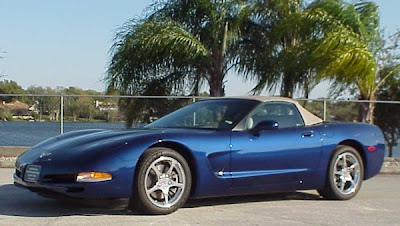 Blue 2004 Commemorative Corvettes Convertible Image