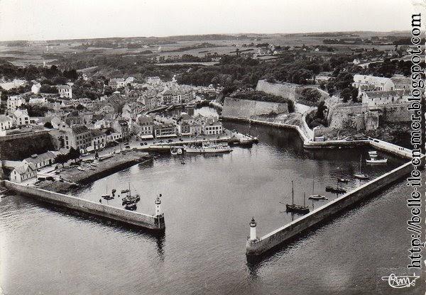 Belle ile en mer autrefois vue a rienne du port de palais for Port donnant belle ile