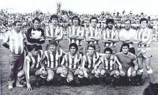 Julio Cabello cn una alineacion del Algeciras