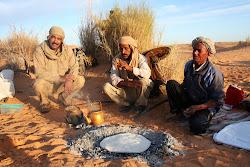 la cuisson du pain dans le sable