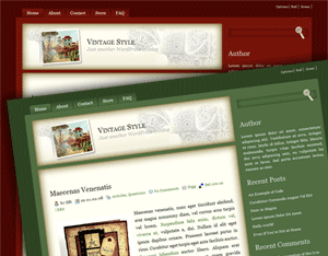 Vintage Style - Blogger Template