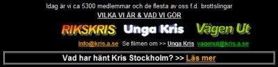 KRIS hemsida skärmdumpad den 31 januari 2009