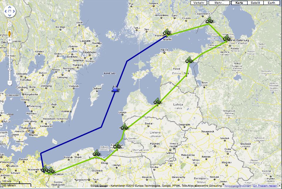Beispiel My Maps Fahrradtour