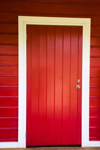 Red upvc doors red front doors red coloured upvc doors for Coloured upvc doors