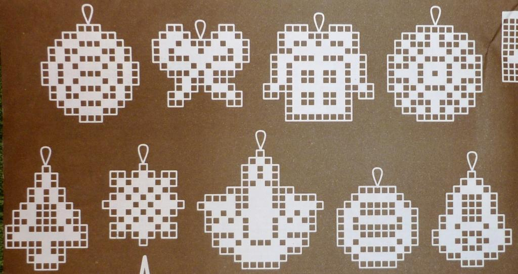 Новогодняя скатерть крючком филейное вязание 97